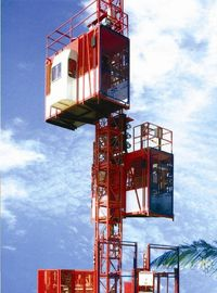 Customized Color Construction Material Hoists , Construction Elevator With 36m / Min To 96m / Min Speed